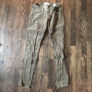 Army green corduroy rockstar pants- old navy